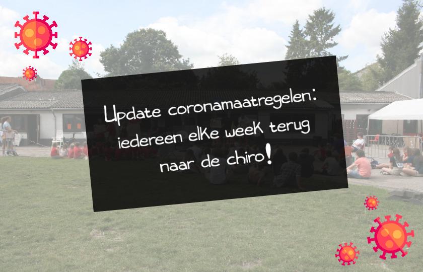 Update coronamaatregelen – iedereen elke week terug naar de chiro!